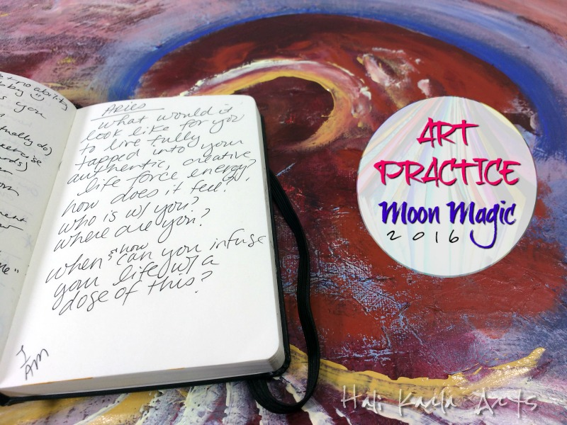 New Moon in Aries Art Practice Moon Magic Invitation for your creative practice with Hali Karla Arts