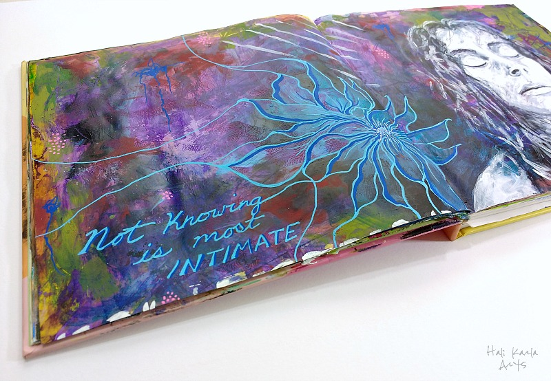 mixed media altered book art journal (Hali Karla)