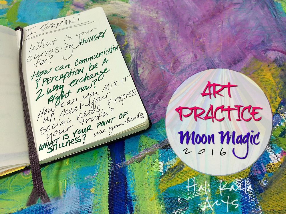 New Moon in Gemini, Art Practice Moon Magic Invitation for your creative practice and new moon rituals