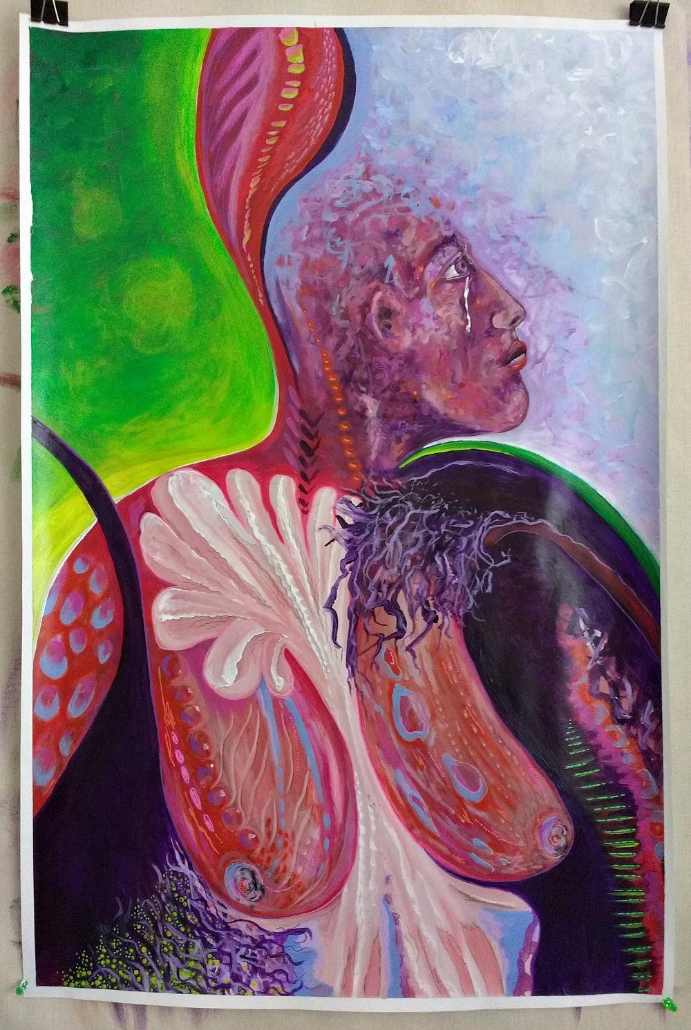 mixed media contemplative painting, Hali Karla