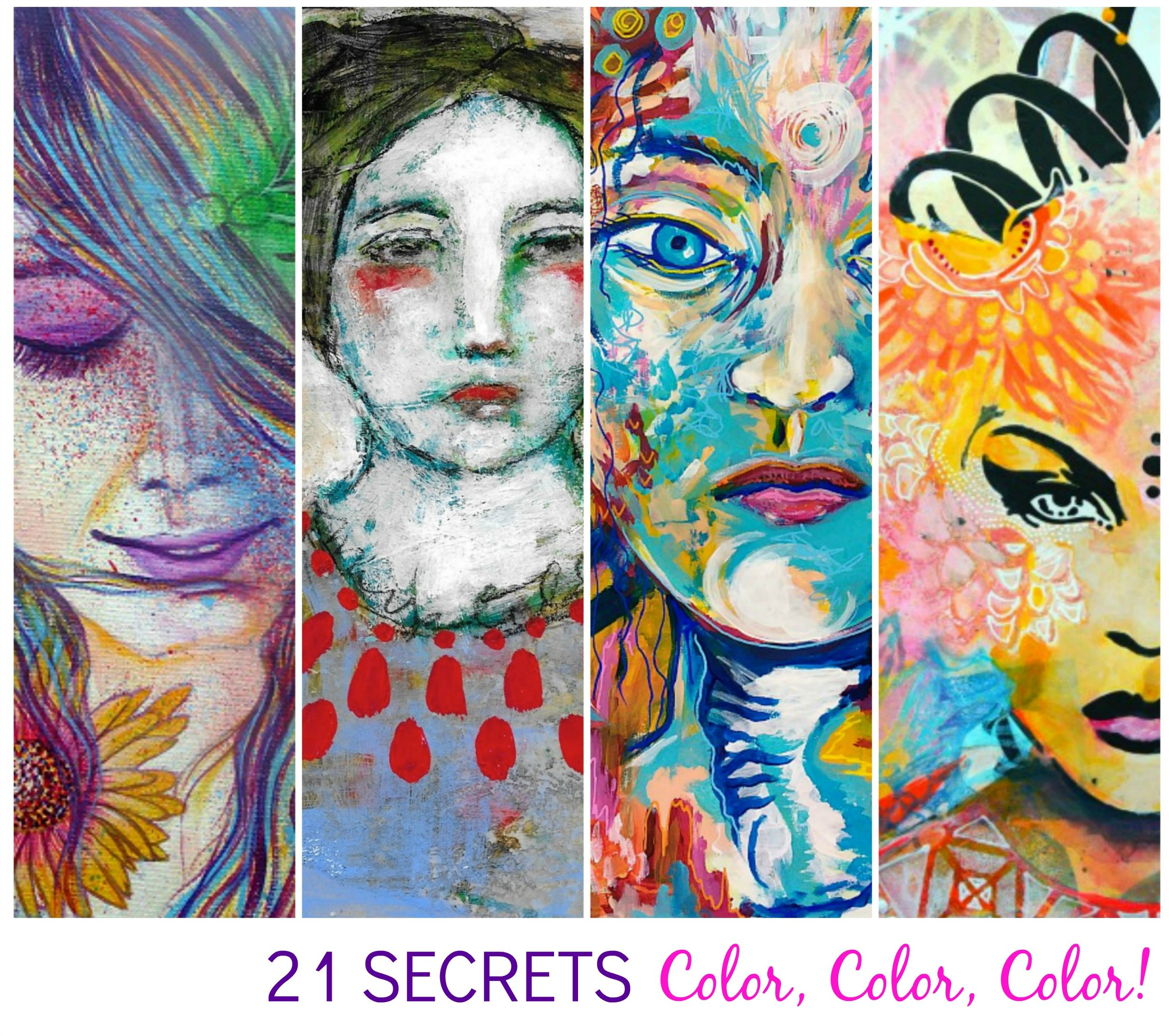 24 ways of exploring color, Color, COLOR! come art journal with us - 21 SECRETS Fall 2016 (I'm returning to teaching in this one!)