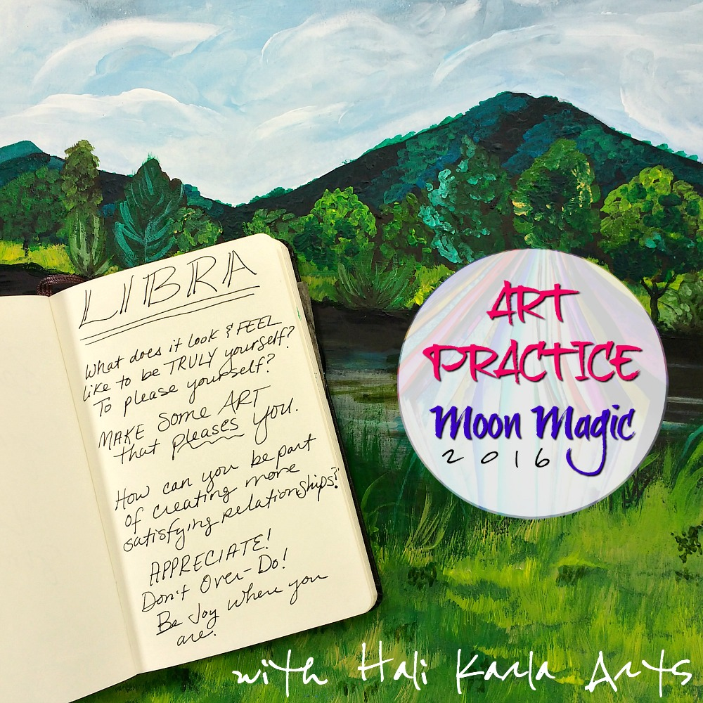 Creative Practice Prompts and Thoughts for the New Moon in Libra with Hali Karla