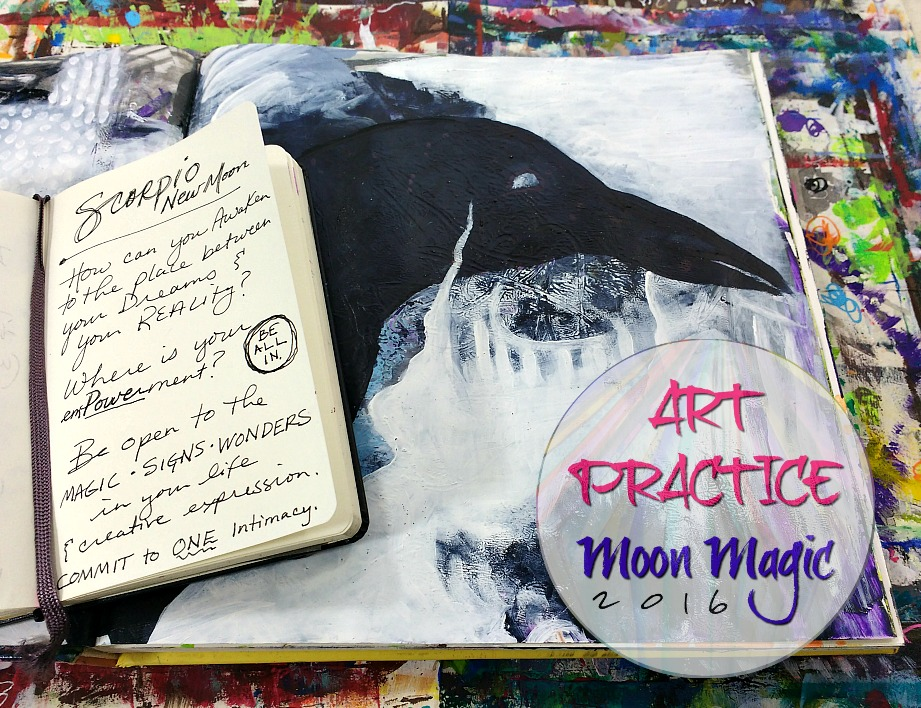 Creative Practice + Reflection Prompts for the New Moon in Scorpio with Hali Karla Arts