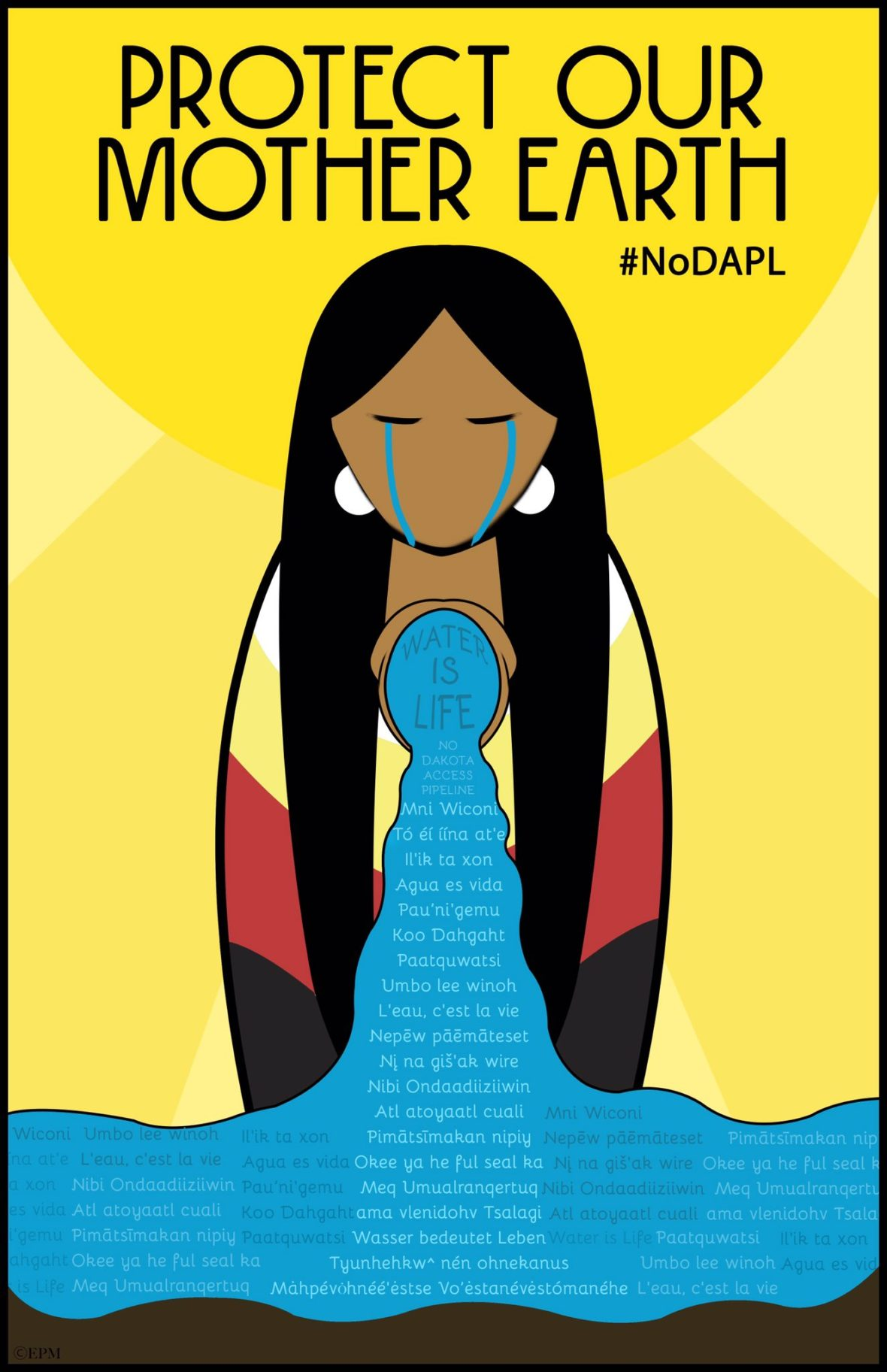 created by artist Erica Moore in support of #noDAPL