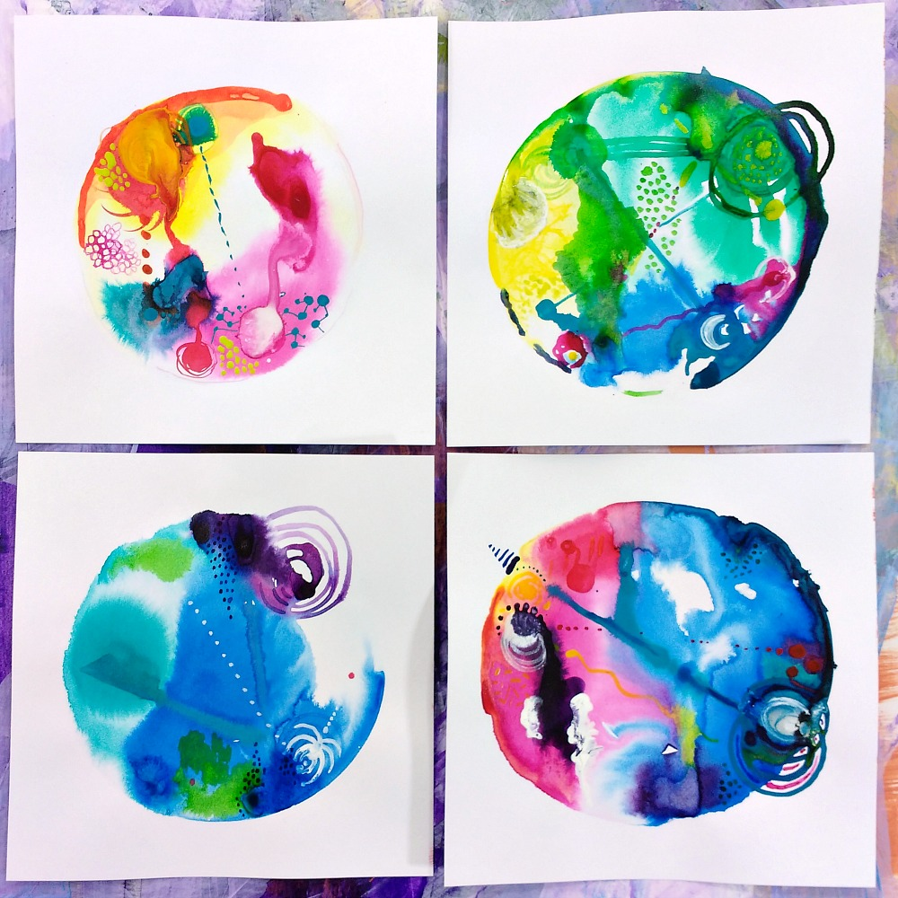 intuitive mandalas inspired by astrological birth charts (Hali Karla)