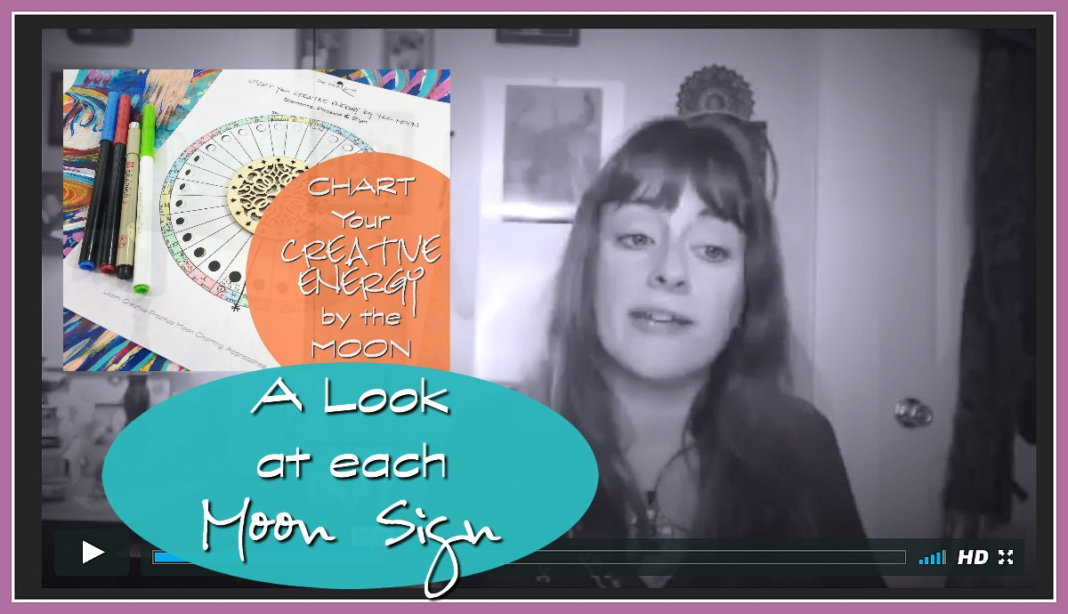 Chart Your Creative Energy by the Moon part 4 - extra video lesson on daily Moon Signs