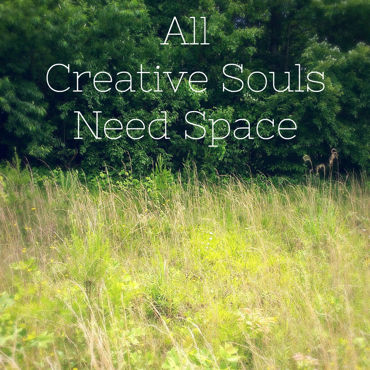 all creative souls need space