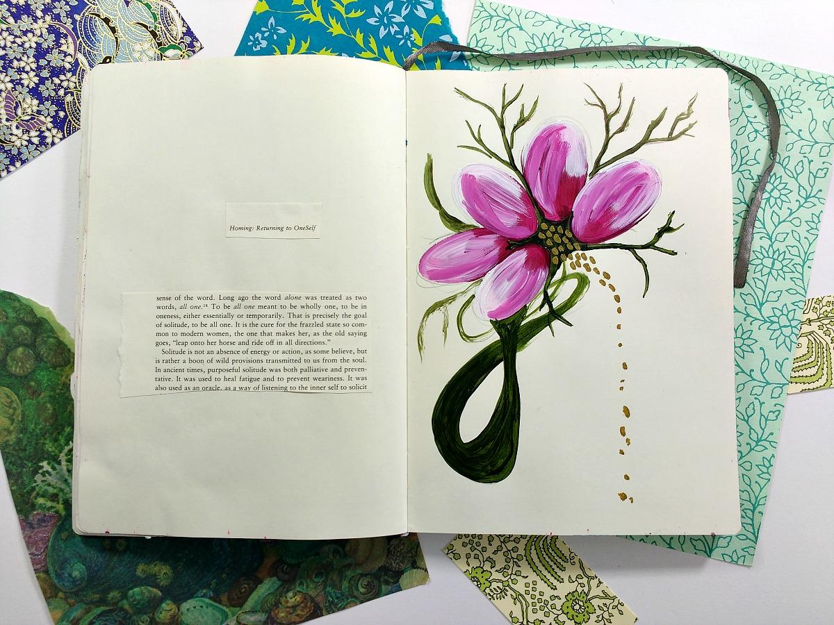 art journal spread (Hali Karla)