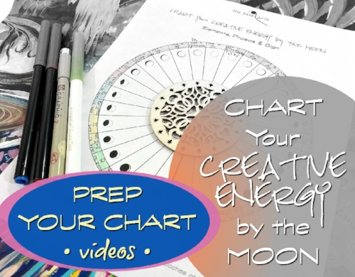 Prep Your Creative Energy Moon Chart - how-to videos with Hali Karla Arts
