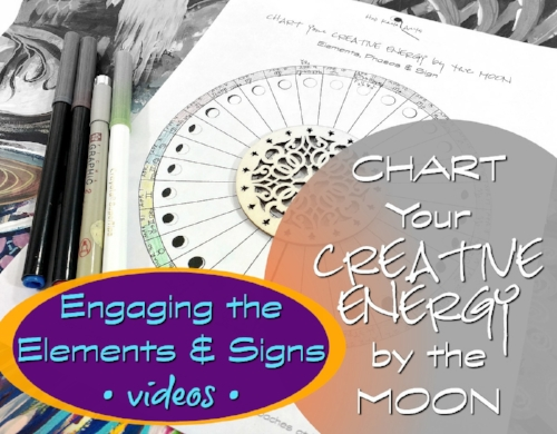 Chart Your Creative Energy by the Moon - free chart and videos from Hali Karla Arts
