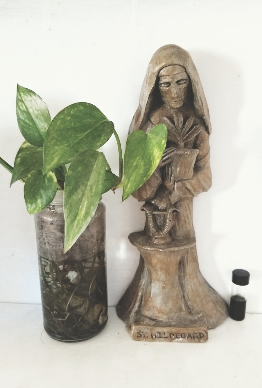 it has always been: art, healing and faith… Hildegard stands watch (Hali Karla Arts)