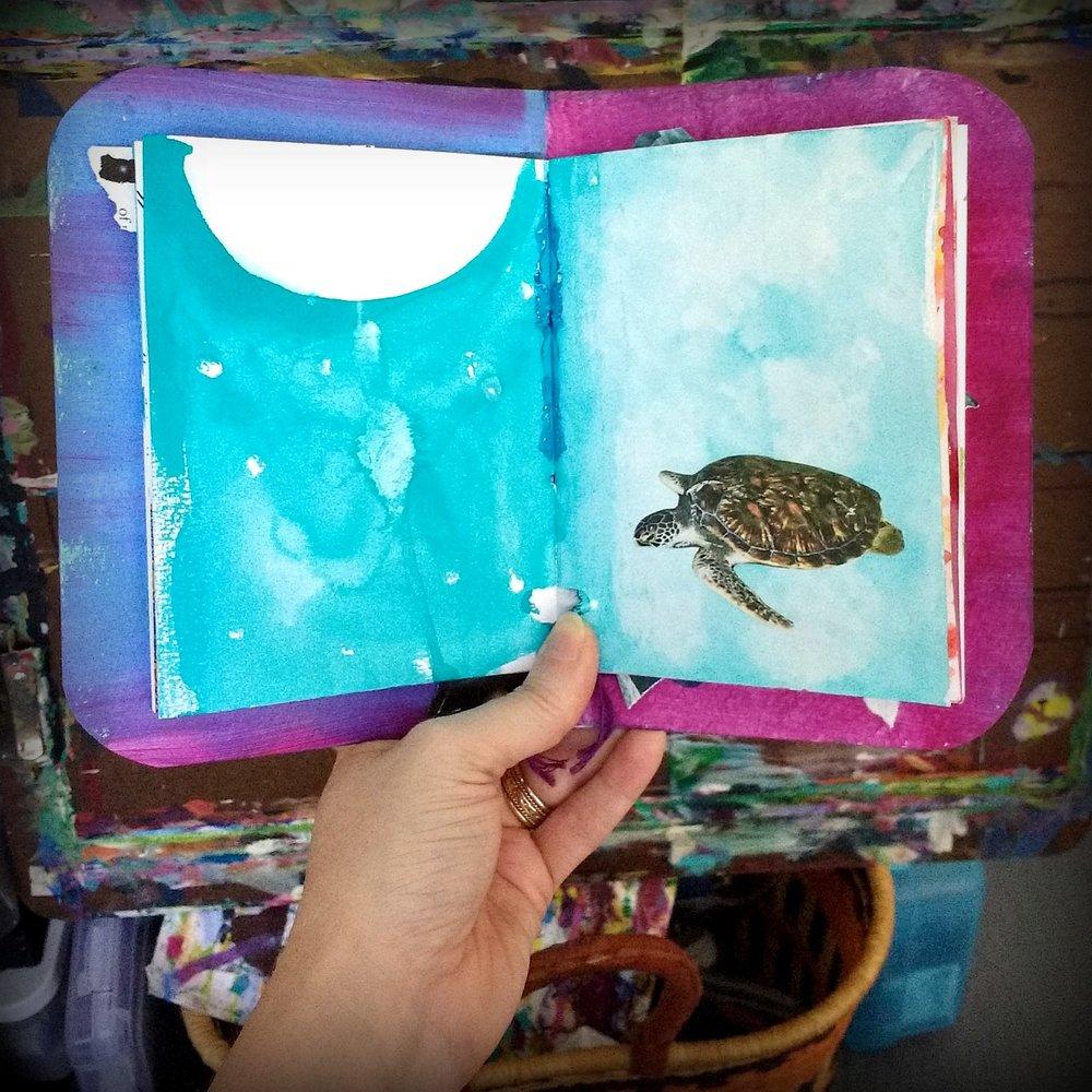 handmade creative practice art journal for reflection, Hali Karla