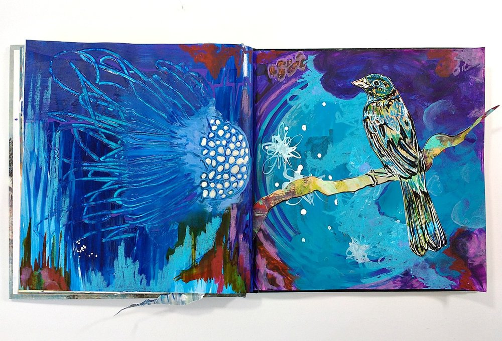 ART JOURNALS - a sample from my creative journal practice