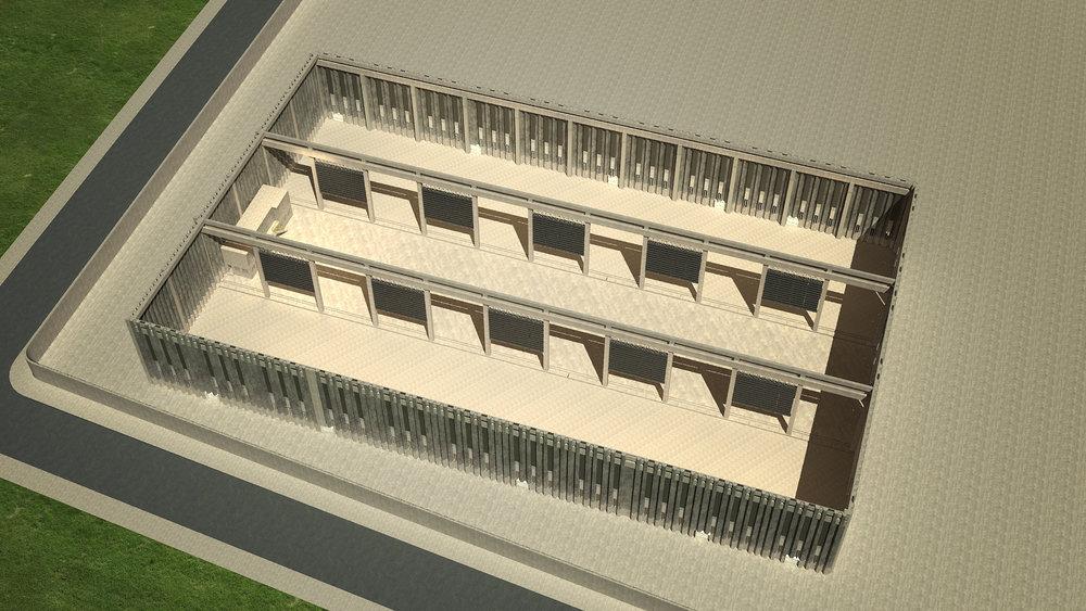 Amplitude to create - Total indoor area: 9.000 m2 Ceiling: 16m