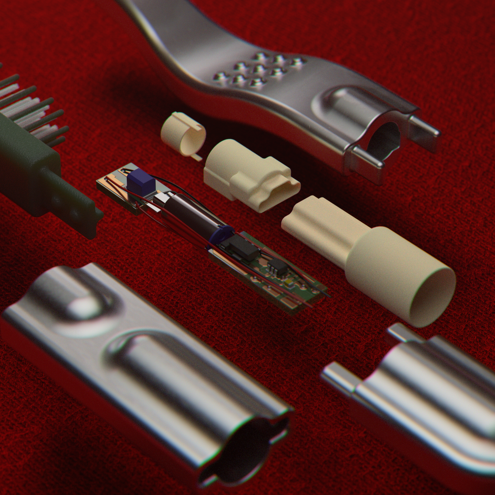 Internal Components of a Tooth Brush