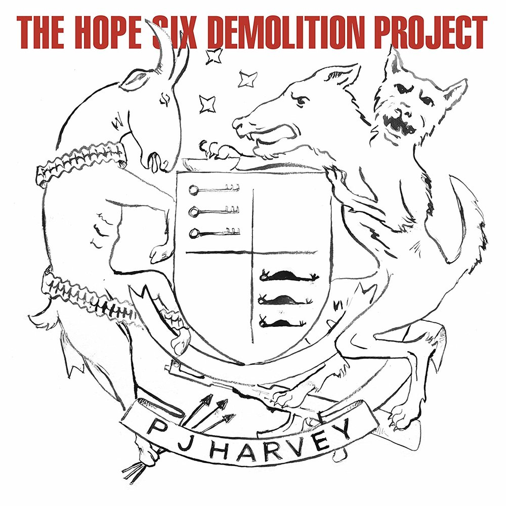 PJ HARVEY - THE HOPE SIX DEMOLITION PROJECT $26 180 gram vinyl a1 fold out poster download card @ 2016 Island Records