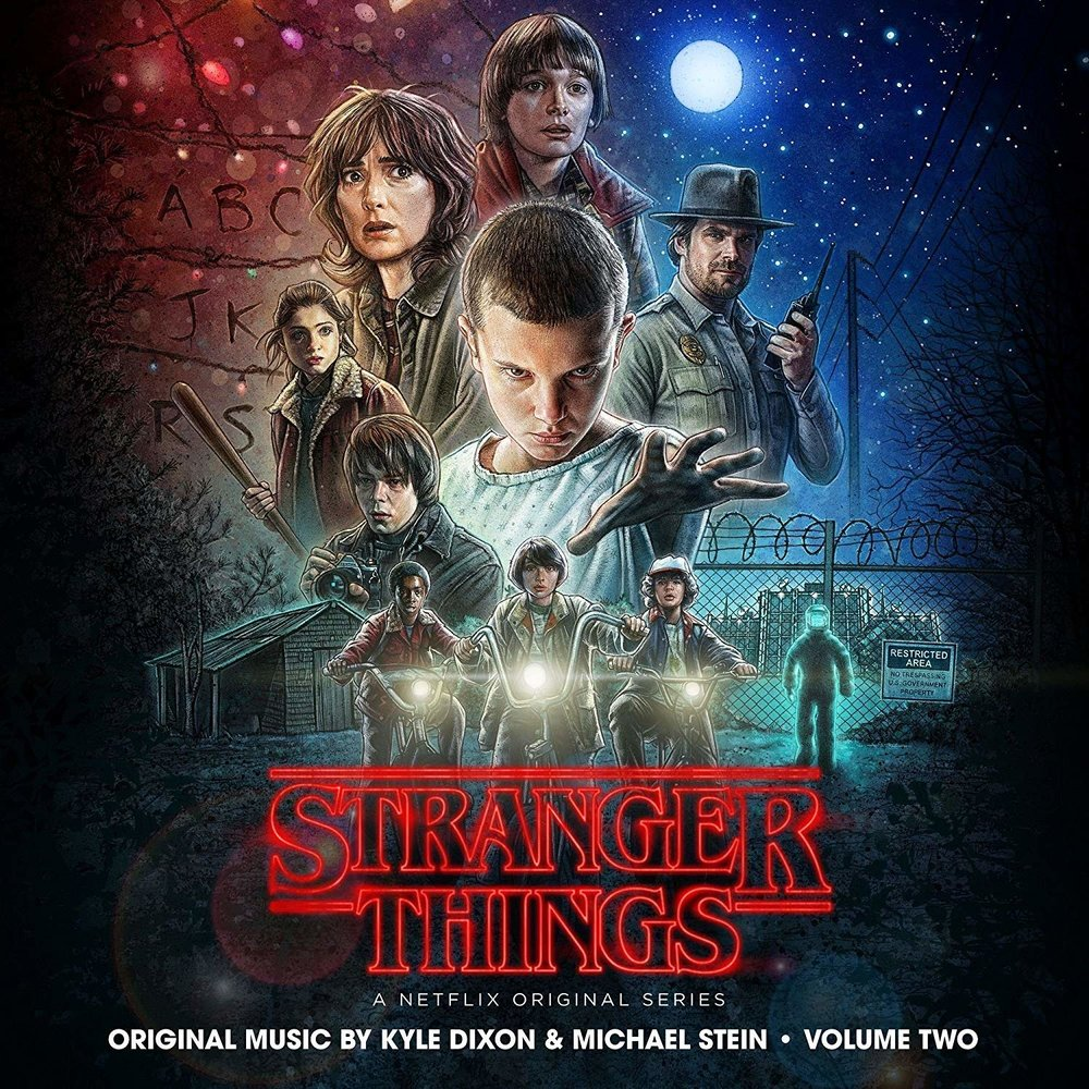 STRANGER THINGS - SEASON 1 SOUNDTRACK $35 2 x lp limited colored vinyl download code @ 2017 Lakeshore Records / Netflix