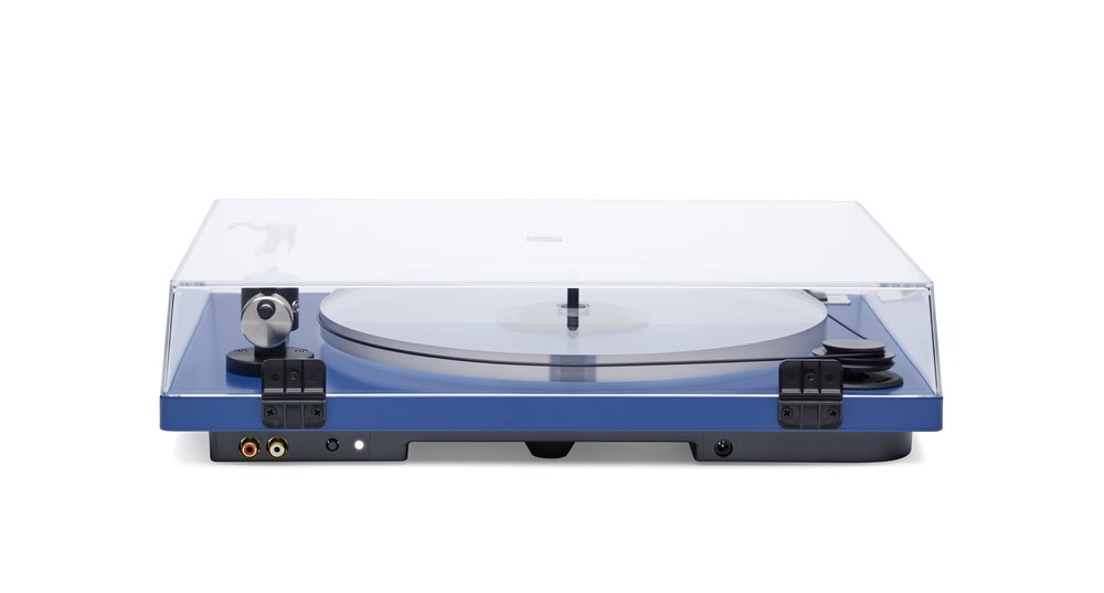 ORBIT PLUS - BLUE ACRYLIC PLATTER ORTOFON OM5E CARTRIDGE DUST COVER w/amp $359 wo/amp 309