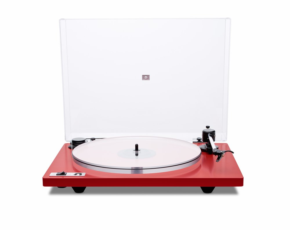 ORBIT PLUS - RED ACRYLIC PLATTER ORTOFON OM5E CARTRIDGE DUST COVER w/amp $359 w/amp $359 wo/amp 309