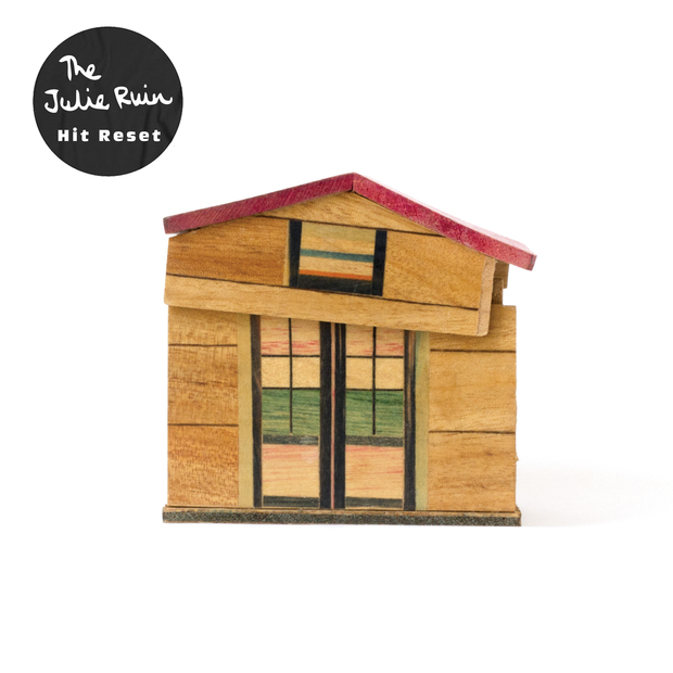 THE JULIE RUIN - HIT RESET $20 limited white vinyl @ 2016 Hardly Art