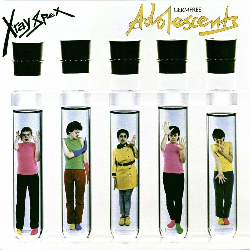 X-RAY SPEX - ADOLESCENTS $26 blue-green splatter vinyl @ 1977 Sanctuary Records