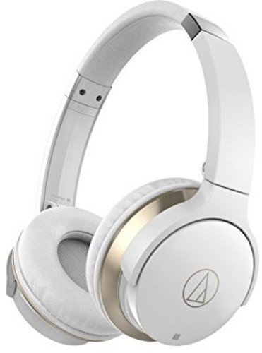 Audio Technica ATH-AR3BTWH - SonicFuel Wireless Headphones with In-Line Mic and Control - White $105