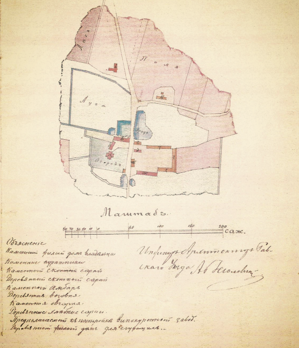 1850 - Leonard Wilski opracowuje wielki plan na Dwór Wilkowice
