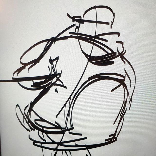 gesture warm ups from the other day . . . . #sketch #wip #art #instaart #mangastudio #clipstudiopaint #caricature #digitalart #gesturedrawing