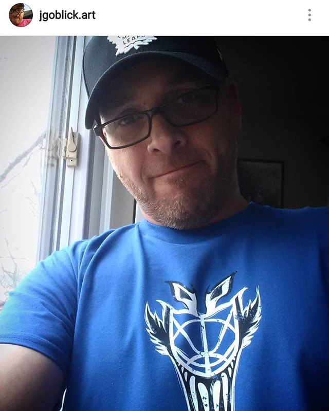 Another Leafs fan sporting the #FelixPotvin shirt! Thanks for your support @jgoblick.art! He's also an artist, check out his work!  Pick up your own Potvin t-shirt here 👉 https://teespring.com/the-cat-mask . . . .  #torontomapleleafs #icehockey #leafsnation #hockeylife #blueandwhite #goleafsgo  #mangastudio #clipstudiopaint  #toronto #torontoevents #caricature  #eventplanner  #torontoeventplanner  #teespring #tshirtdesign