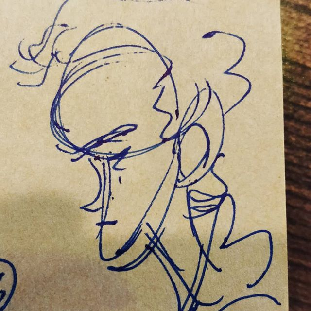 at the coffee shop doing a few profile sketches to loosen up. kinda miss pen to paper. . . . . . #caricature #sketchbook #peoplesketching #art #sketching #cafesketch #analog #pentopaper #inkdrawing #art #coffeeart #profile