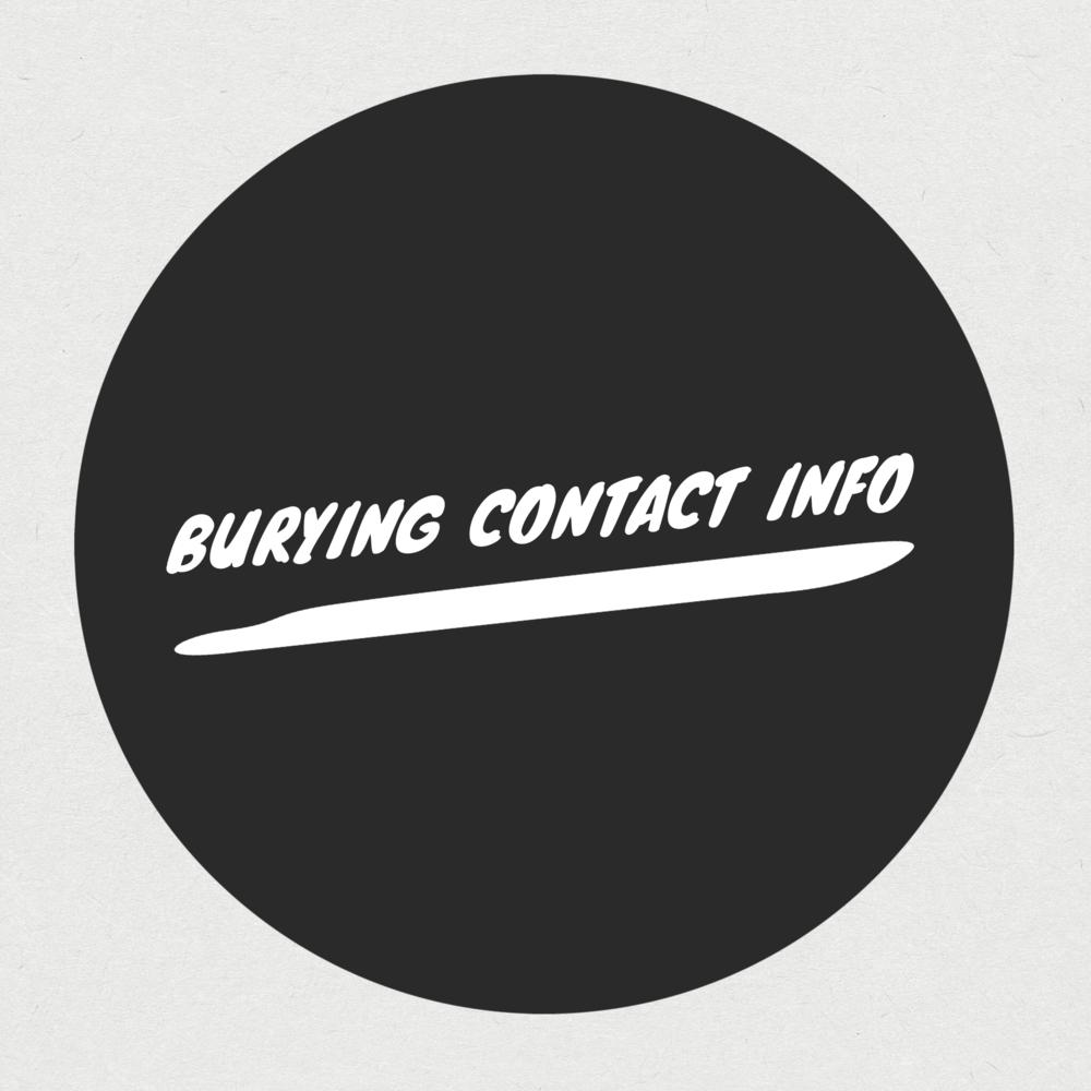 burying contact info