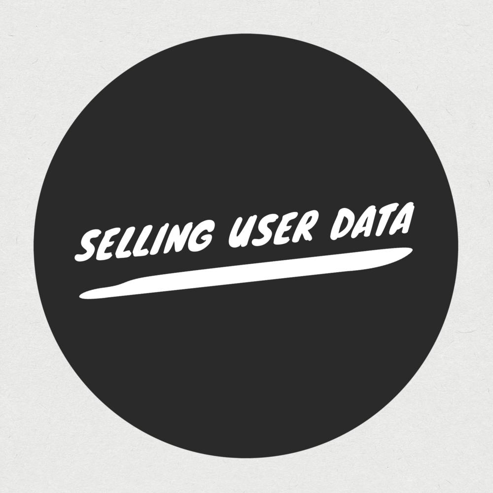 selling user data
