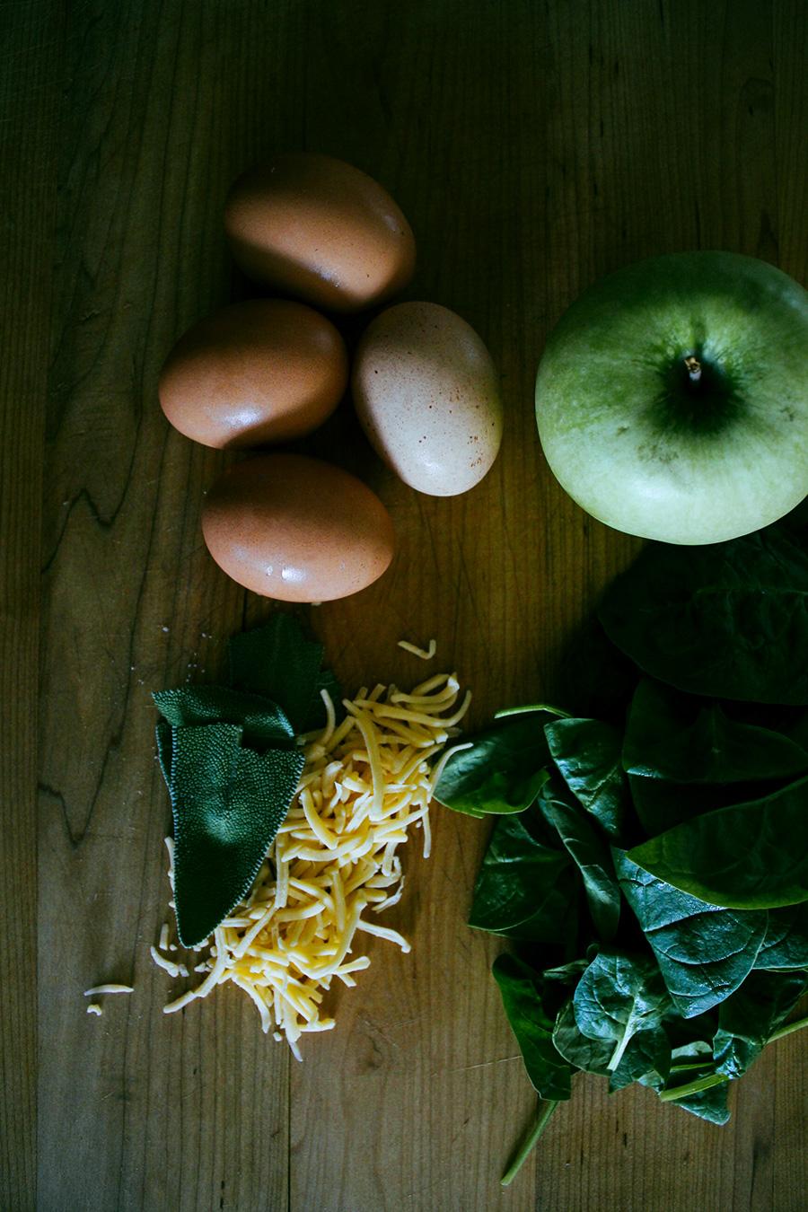 acorn squash and apple frittata