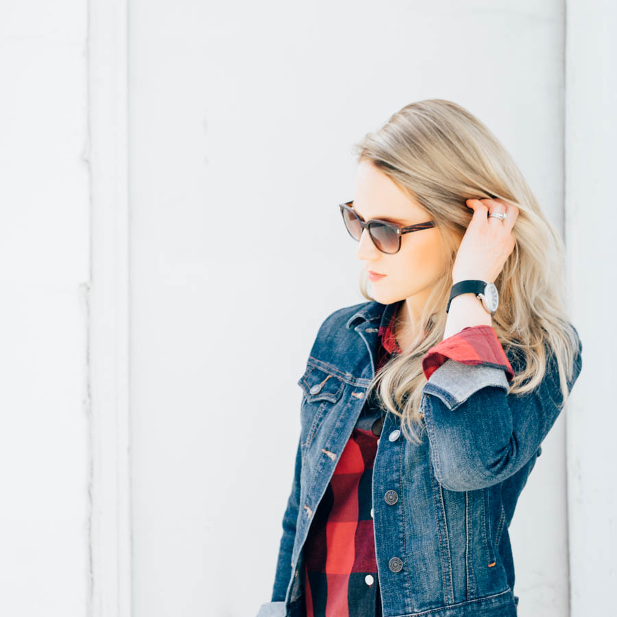A Short Blonde - November - Flannel - Jean Jacket