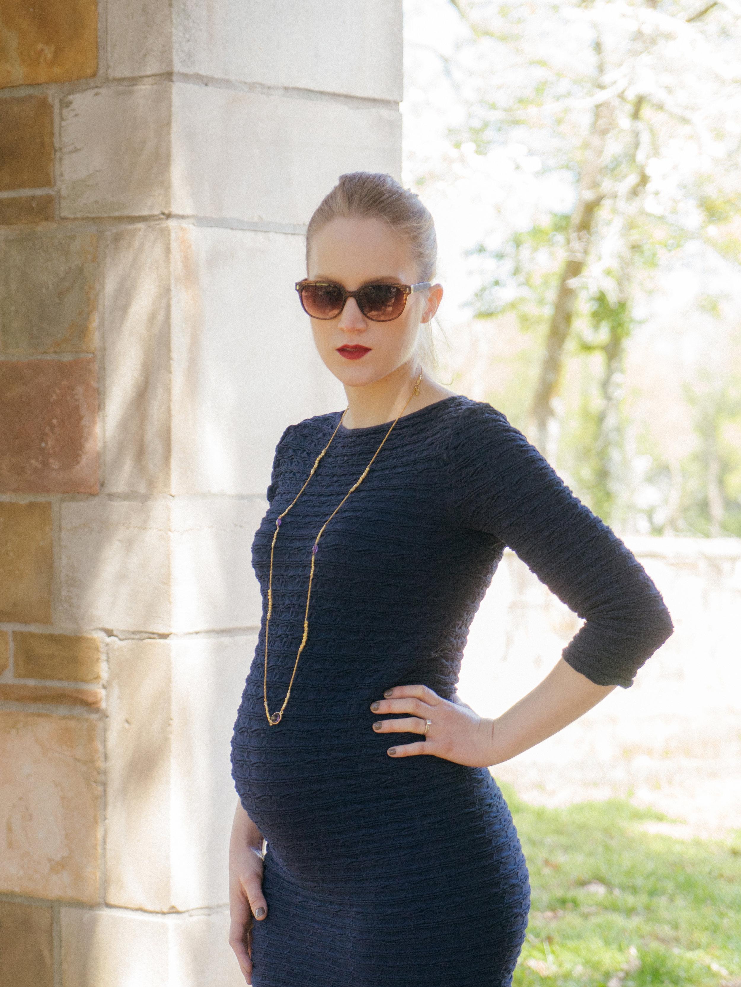 BUMP style Box Tees by Tina Crinkle Maternity Dress