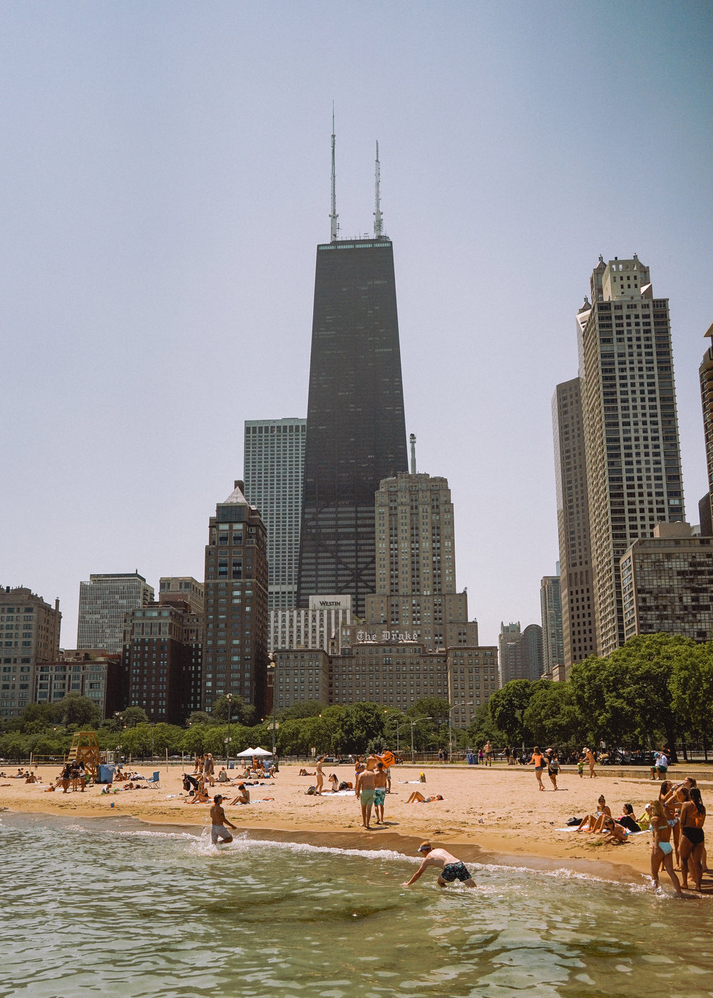 Lake Michigan Beach in Chicago
