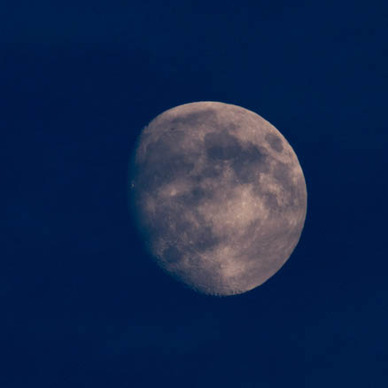 Waxing gibbous moon at 84%