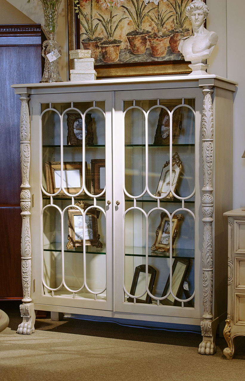 CA002 - Two Door Chippendale Display Cabinet A