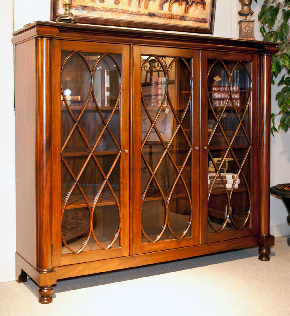CA002L - Three Door Chippendale Display Cabinet
