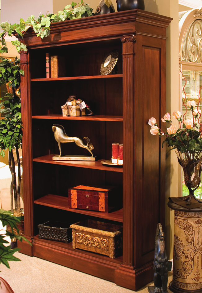 Chippendale Style Open Bookcase Cabinet