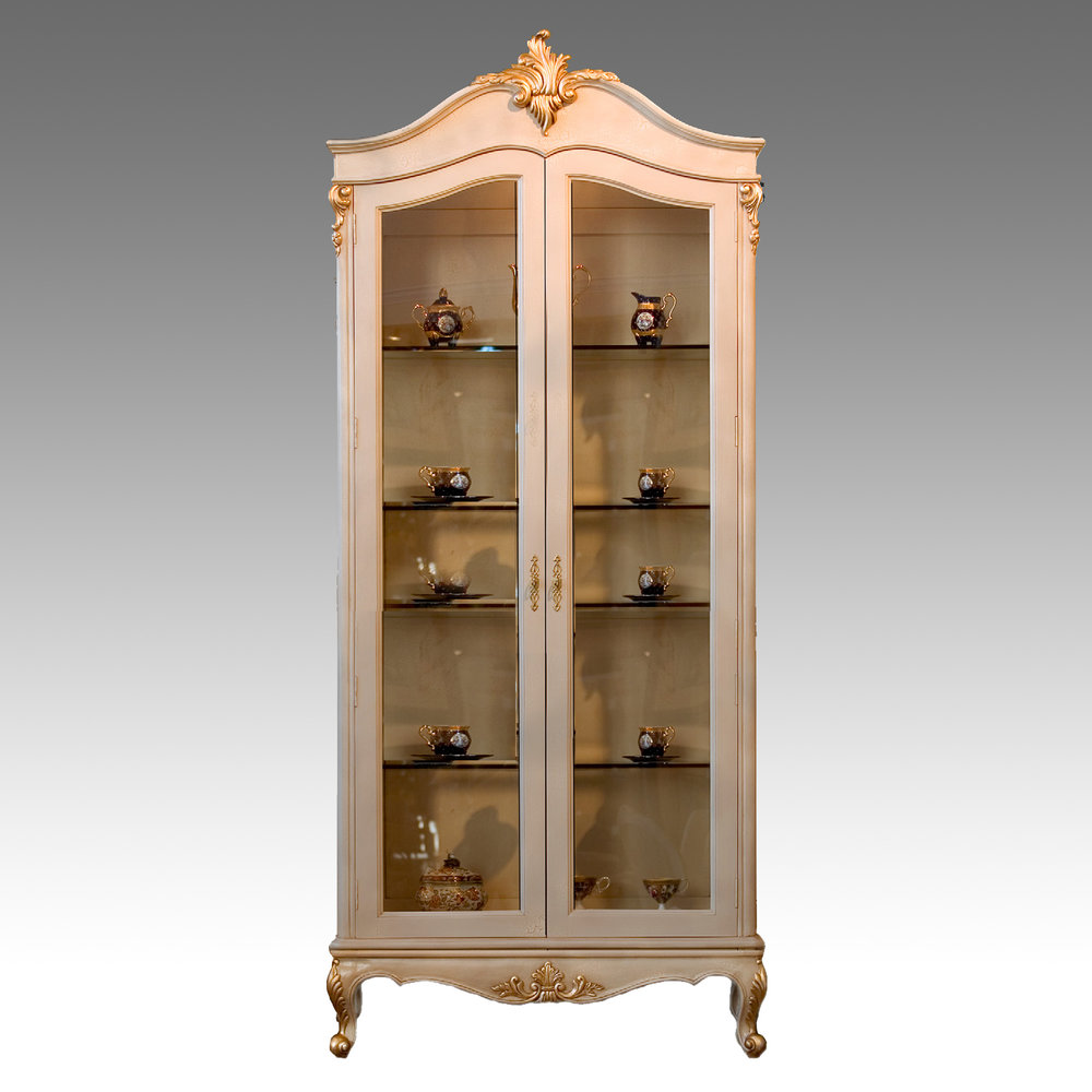 CA20142D - Francisca Two Door Curio. Cabinet