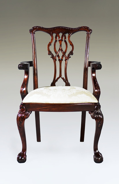 CH001A - Carved Westminster Chippendale Arm Chair