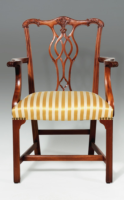 CH002A - Georgian Style Chippendale Arm Chair