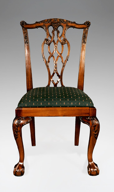 CH014S - Carved Lion Chippendale Side Chair