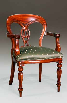 CH026A - Fiddle Back Arm Chair