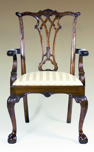 CH922A - New England Chippendale Arm Chair