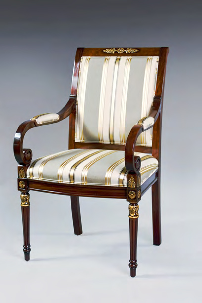 CH1011A - Empire Style Dining Arm Chair