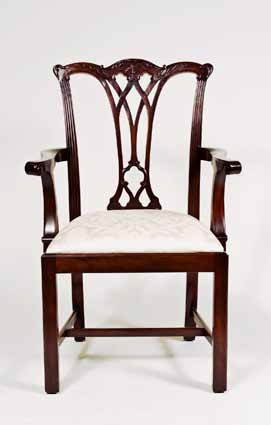 CH417A - Gothic Chippendale Straight Leg Arm Chair