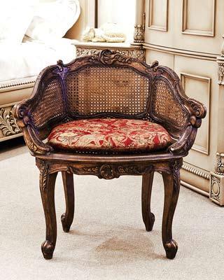 CH10700 - Louis XV Cane Bach Arm Chair