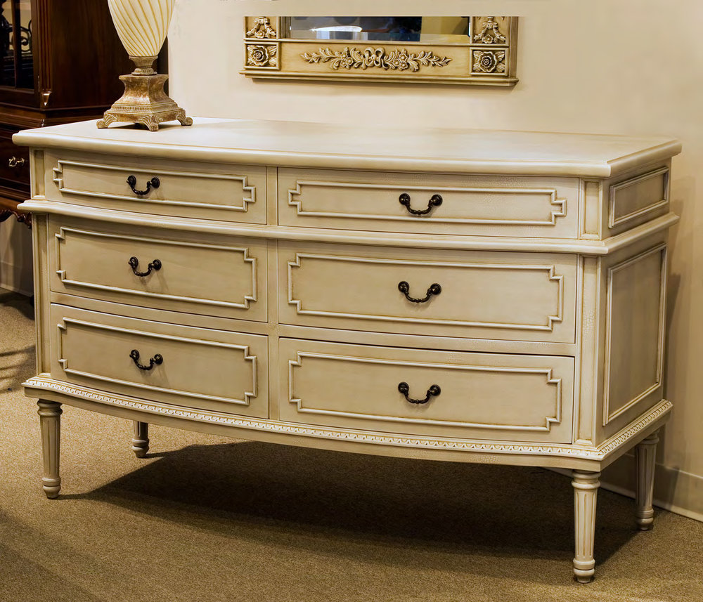 CA4021D - French Provincial Six Drawer Dresser
